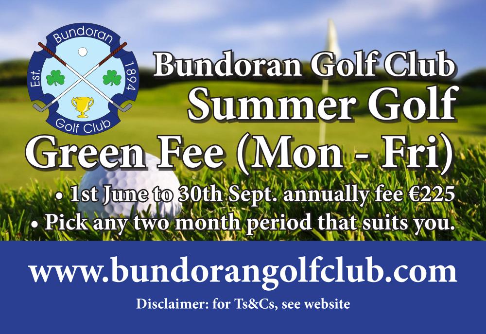 Bundoran Golf Summer Golf Green Fee 2021